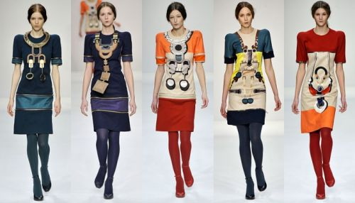 Central Saint Martins - Mary Katrantzou - fall 2008