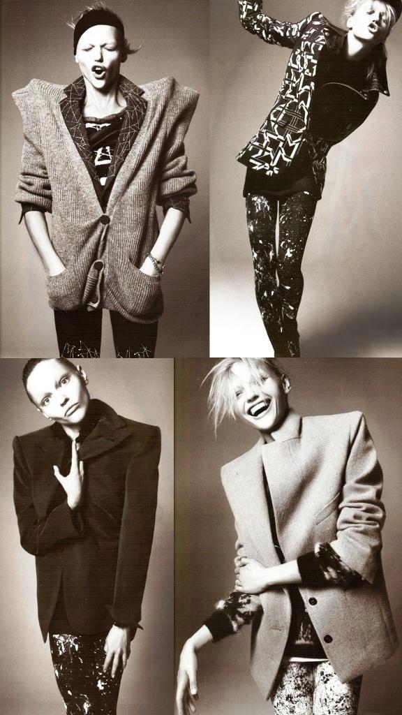 And Sasha portrays her perfectly Sasha Pivovarova Vogue