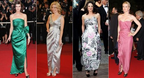 ankle-length evening dresses at Cannes 2009