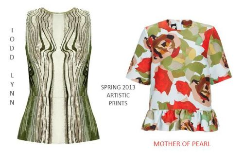 Artistic prints: spring 2013 tops