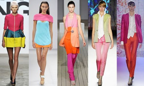 London Fashion Week trend: color-block