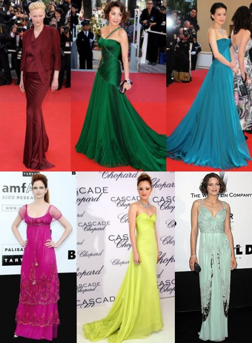 bold colors at Cannes 2009