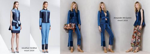 Resort 2014 trends: patchwork denim