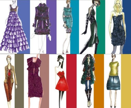 Designer sketches for Pantone Fall 2008 Report