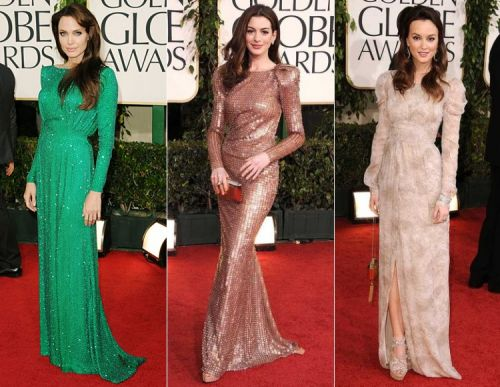 Golden Globes 2011 red carpet: 70s style long-sleeves