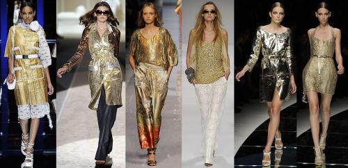 Milan Fashion Week Trend: Gold