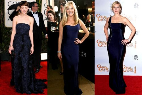 Golden Globes 2010 trend: mysterious navy