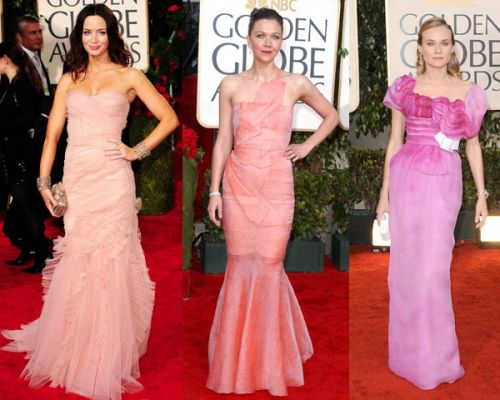 Golden Globes 2010 trend: shades of pink