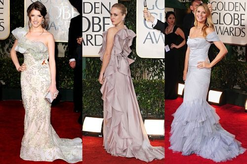 Golden Globes 2010 trend: diaphanous ruffles