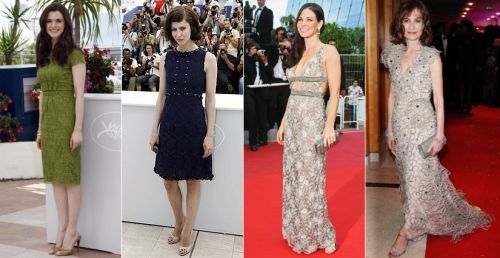 lace dresses at Cannes 2009