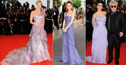 lavender gowns at Cannes 2009