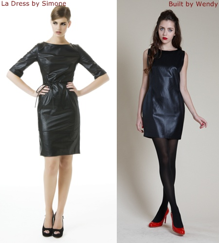 leather little black dresses