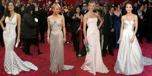 Oscar fashion: light colored gowns