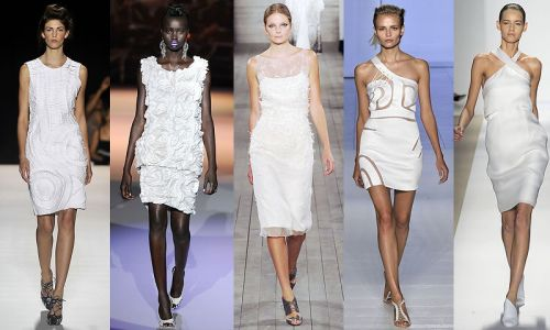 New York trend spring 2009: little white dress