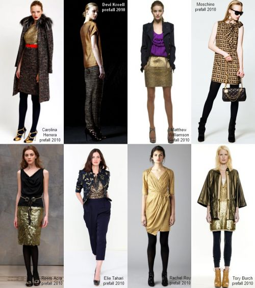 Pre-fall 2010 trend: gold fever