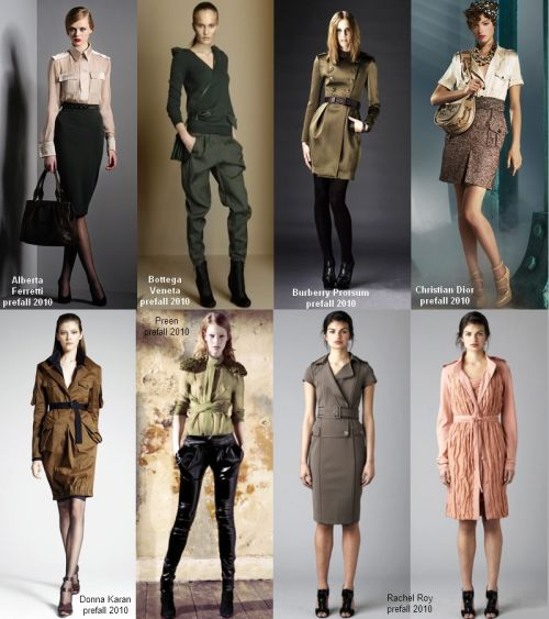 Pre-fall 2010 trend: military chic
