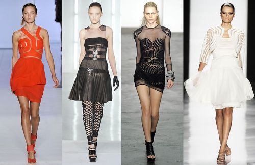 New York trend spring 2009: opaque/sheer cutouts