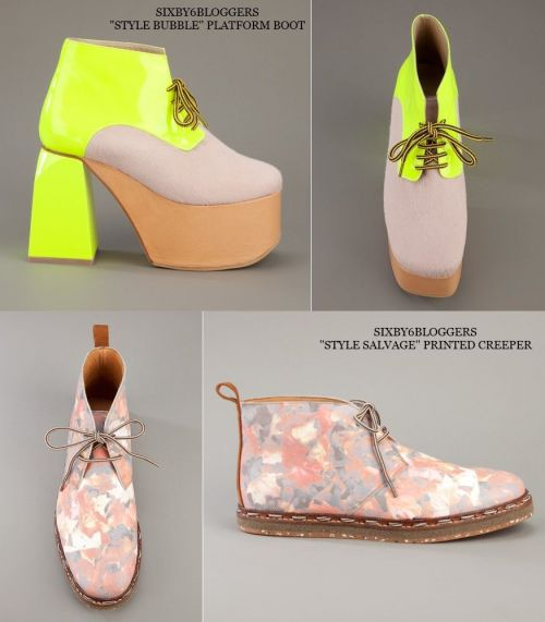 SIXby6bloggers, Style Bubble platform boot and Style Salvage printed creeper