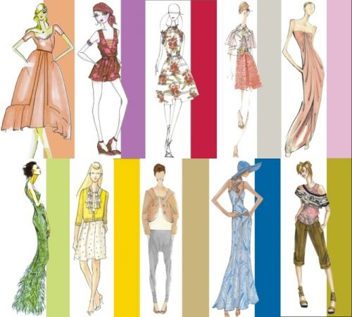 Designer sketches for Pantone Spring 2008 Color Report