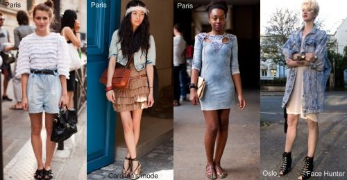 Street style trend summer 2010: faded denim