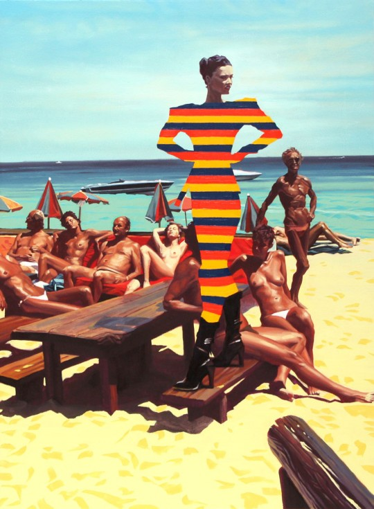 Seth Armstrong, Stripes on the beach