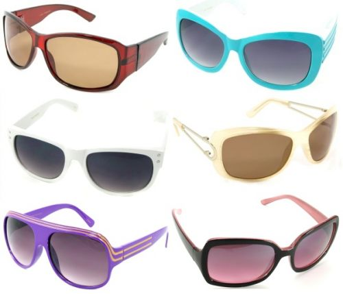 Sunglass Warehouse colored frames