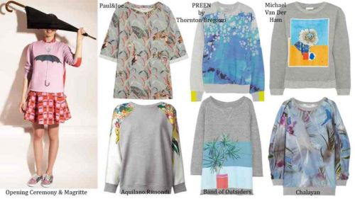 Printed sweatshirt trend shopping guide