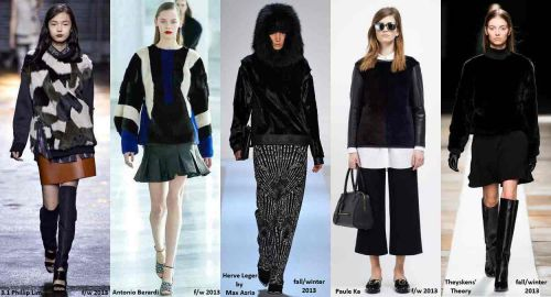 Fur sweatshirts and jumpers fall-winter 2013 trend