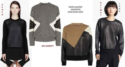 Leather sweatshirts trend fall-winter 2013