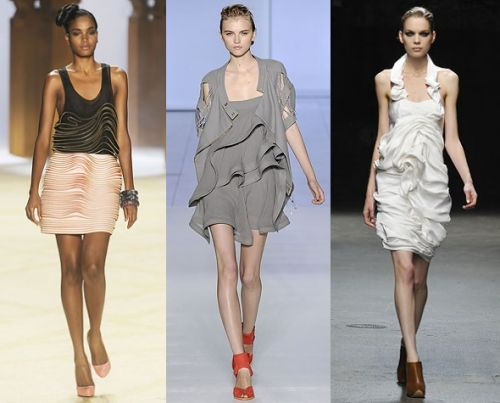 New York trend spring 2009: tiered ruffles