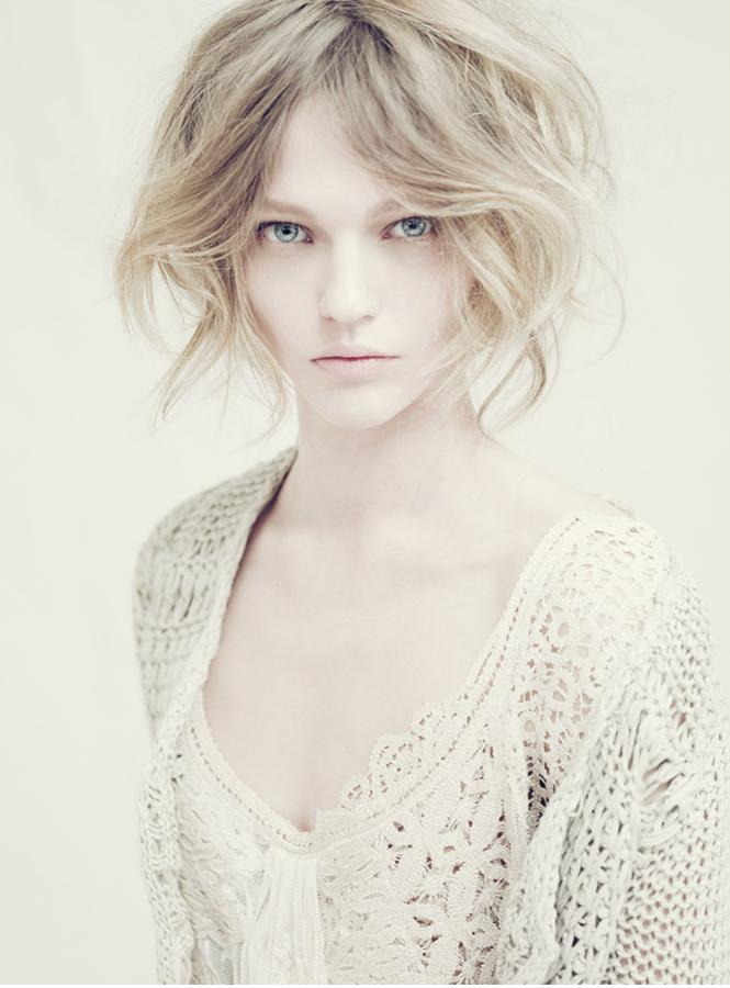 Sasha Pivovarova for Alberta Ferretti ad campaign