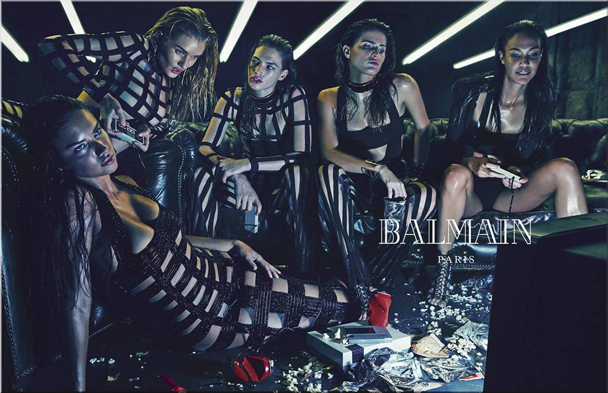 Balmain's Spring Summer 2015 advertising campaign