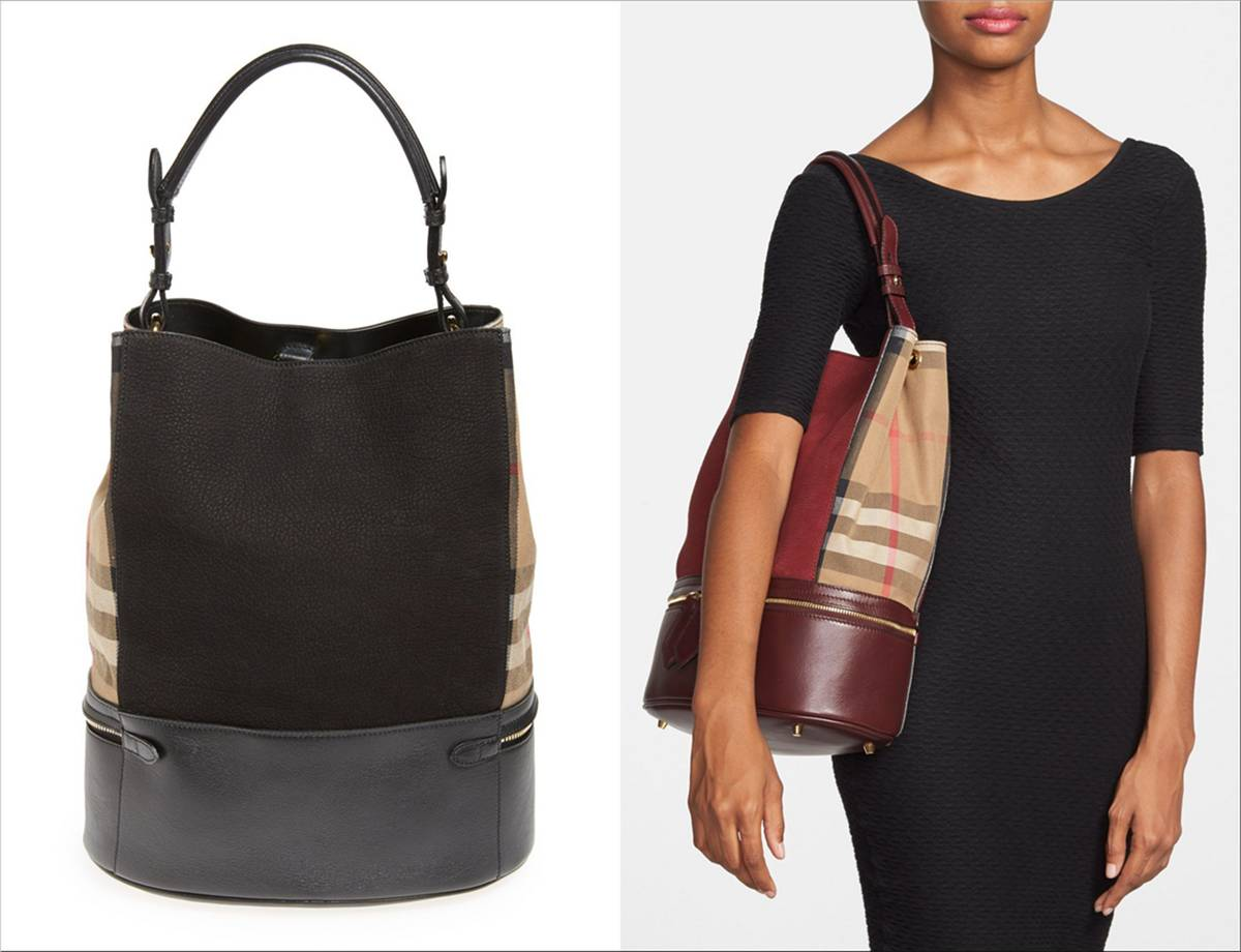 Burberry 'Beckett' tote in red and black