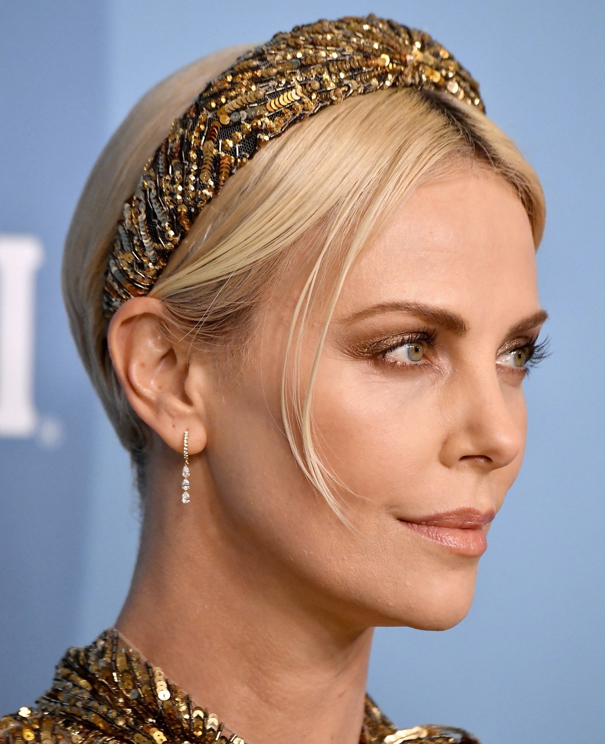 Charlize Theron wears the hair trend of the season