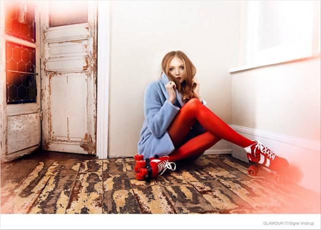 Lily Cole - Glamour Italia