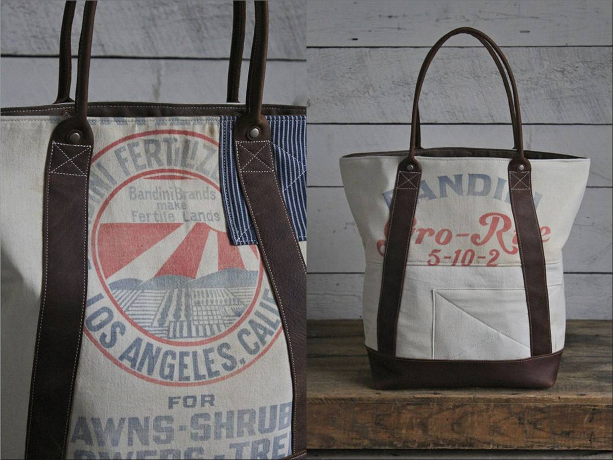 Patched Feed Sack Carryall
