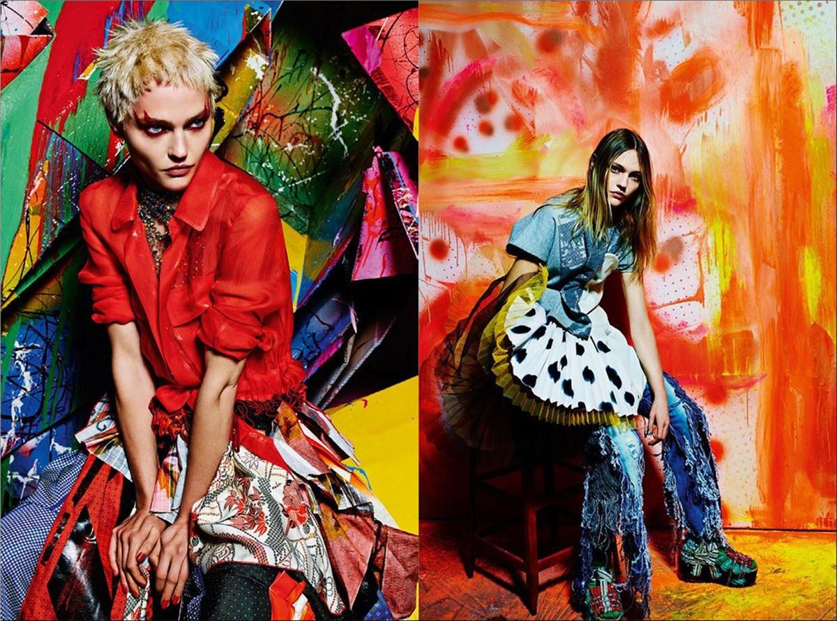Sasha Pivovarova for Vogue Italia