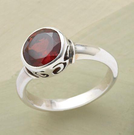 Brilliant garnet ring