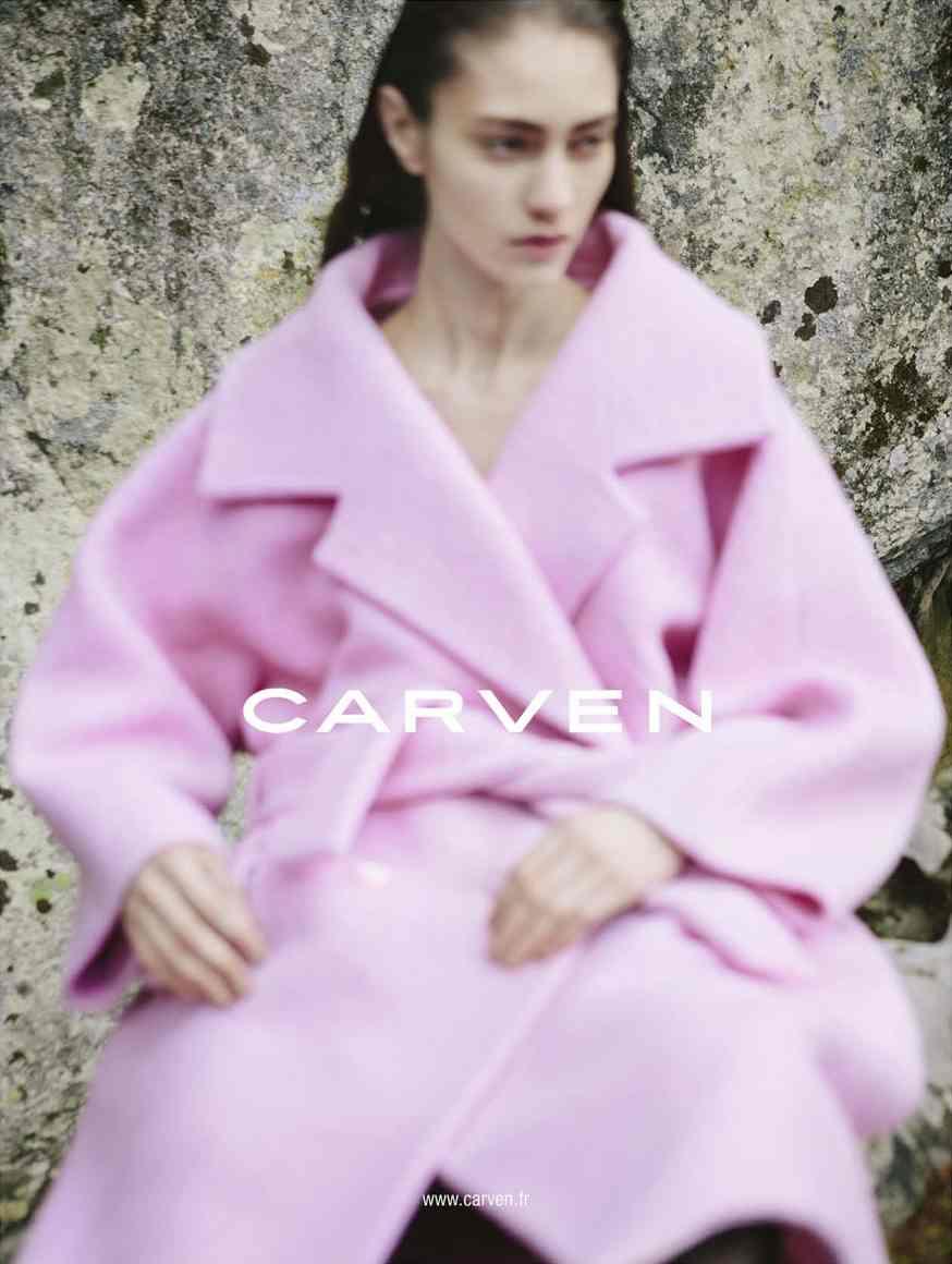 Marine Deleeuw for Carven fw 2013 ad campaign