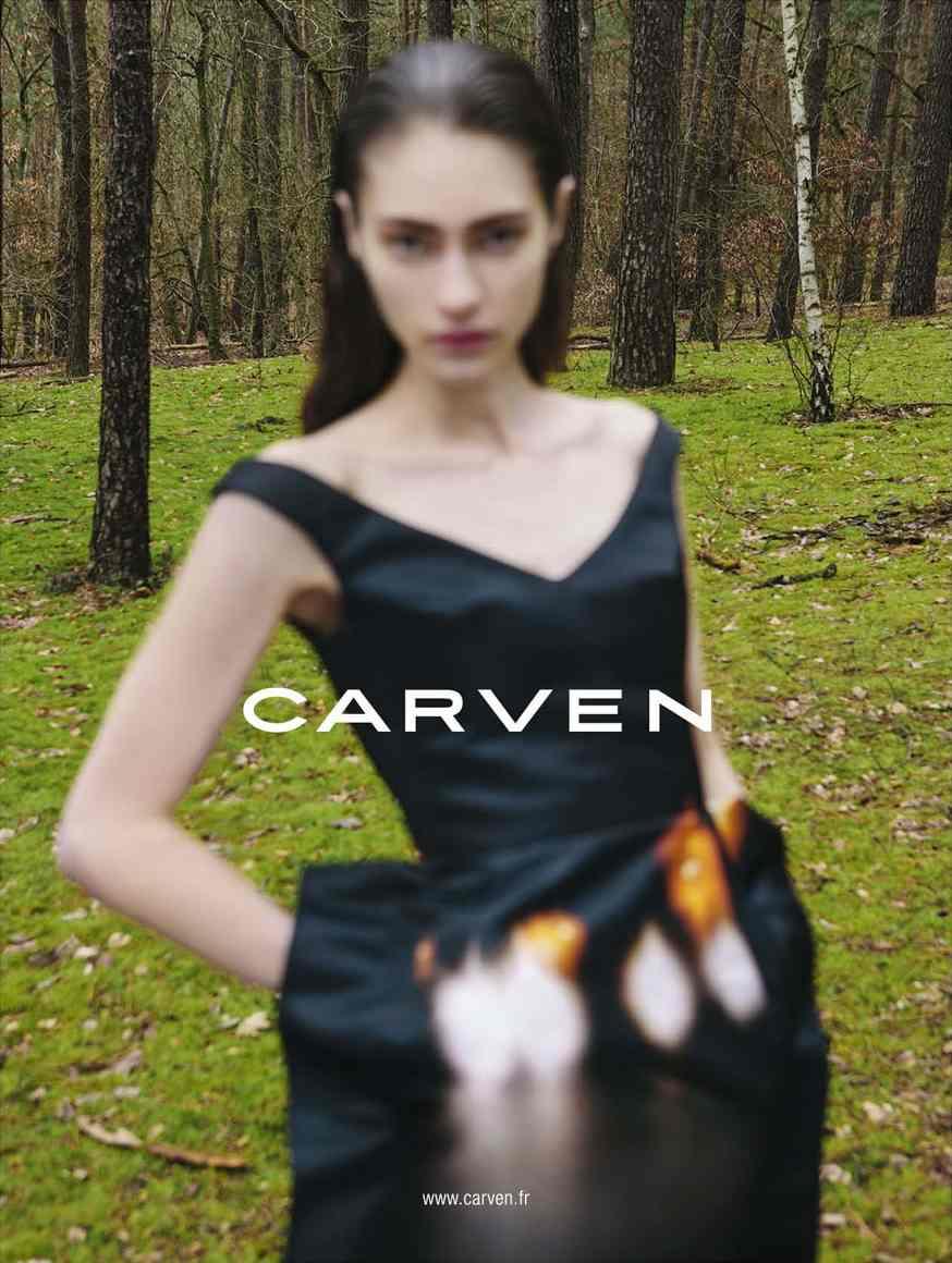 Marine Deleeuw for Carven fw 2013 by Viviane Sassen