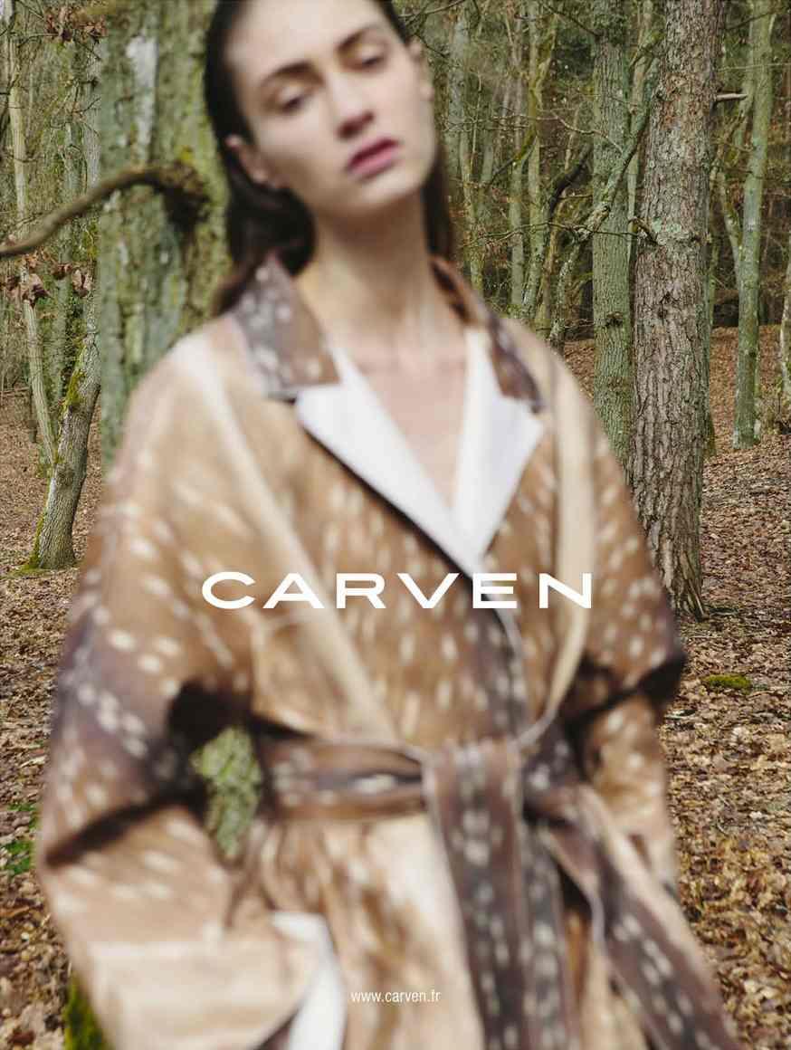 Marine Deleeuw, Carven ad photo by Viviane Sassen