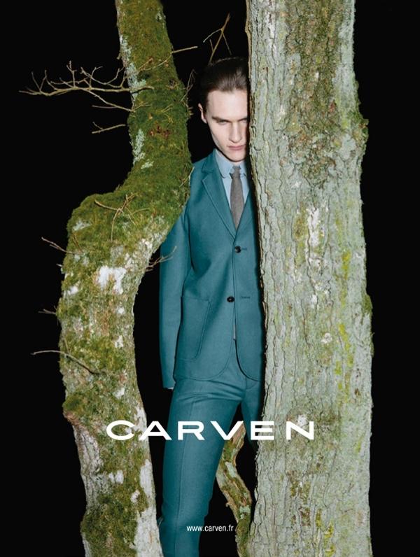 Luka Badnjar, Carven menswear fall-winter 2013 advertising campaign