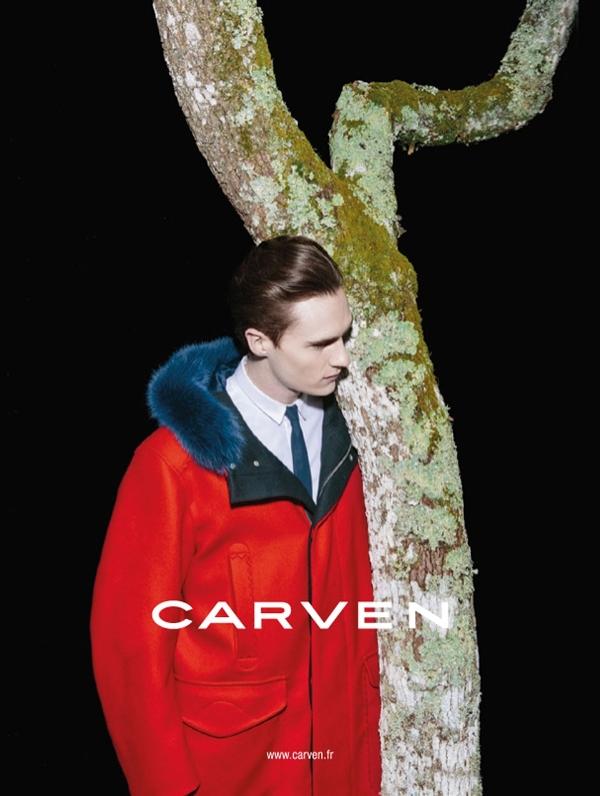Luka Badnjar, Carven FW 2013 ad campaign by Viviane Sassen