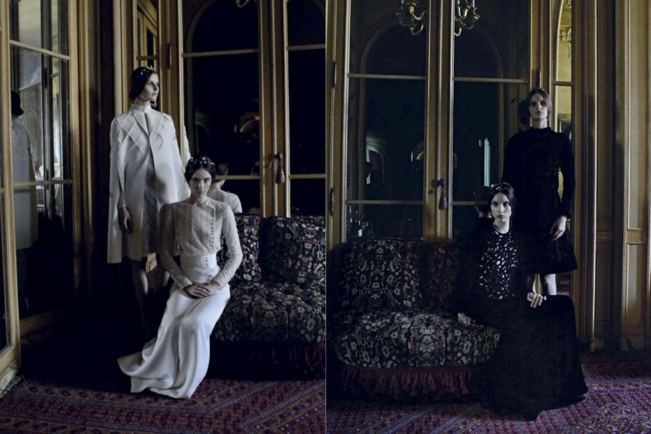 Deborah Turbeville, Vogue Italia, Valentino Couture, sep 2011