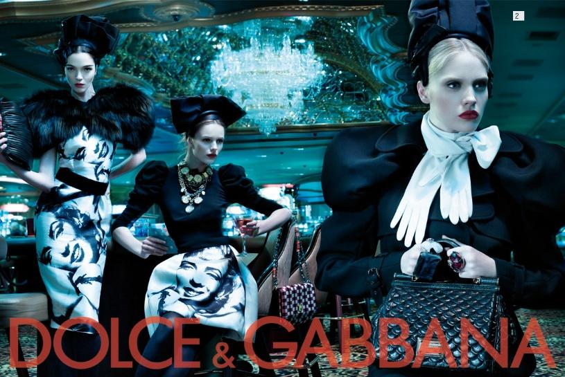 Dolce&Gabbana fw 2009/2010 advertising womenswear