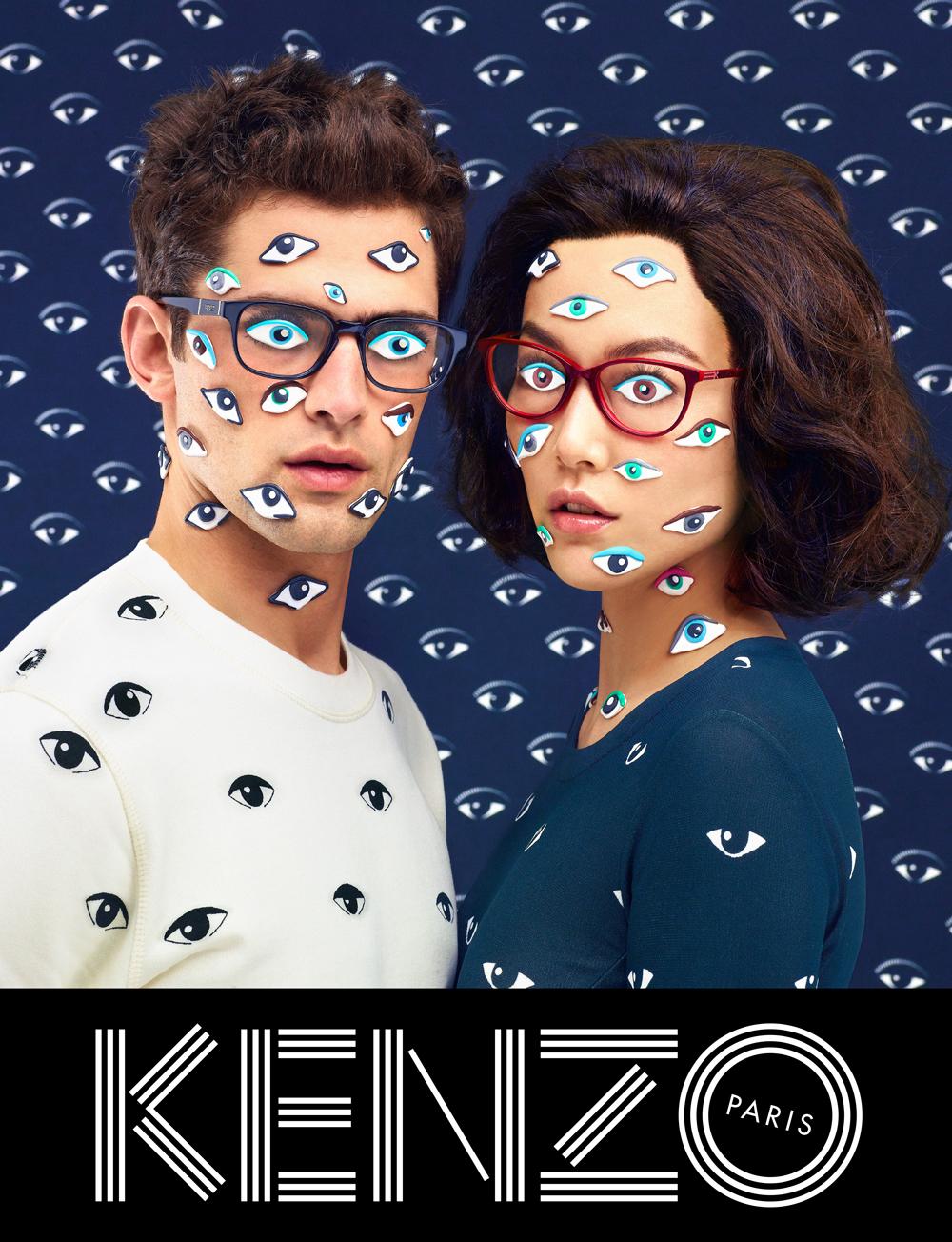 Rinko Kikuchi and Sean O'Pry, Kenzo fall/winter 2013 ad campaign