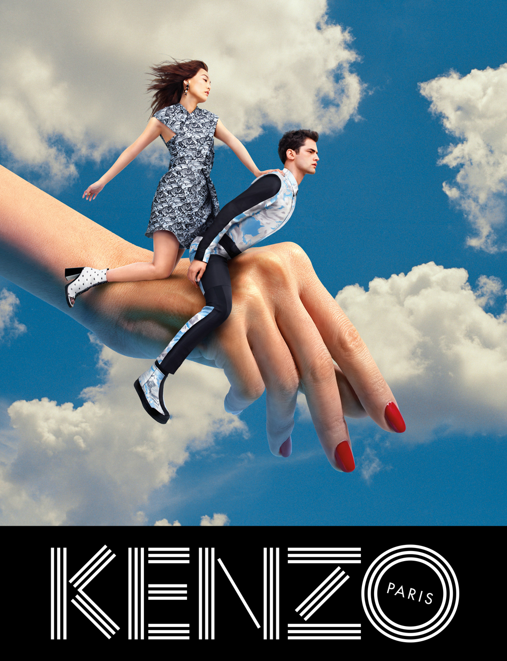 Rinko Kikuchi, Sean O'Pry for Kenzo fall/winter 2013 ad campaign