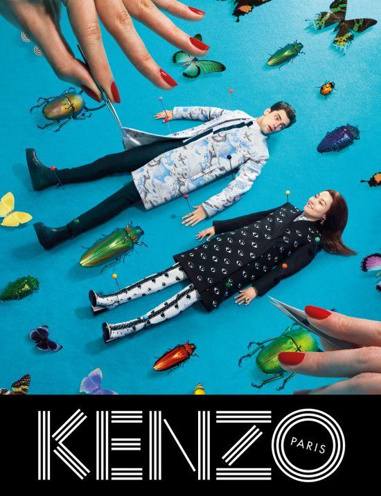 Rinko Kikuchi and Sean O'Pry for Kenzo fw 2013 ad campaign