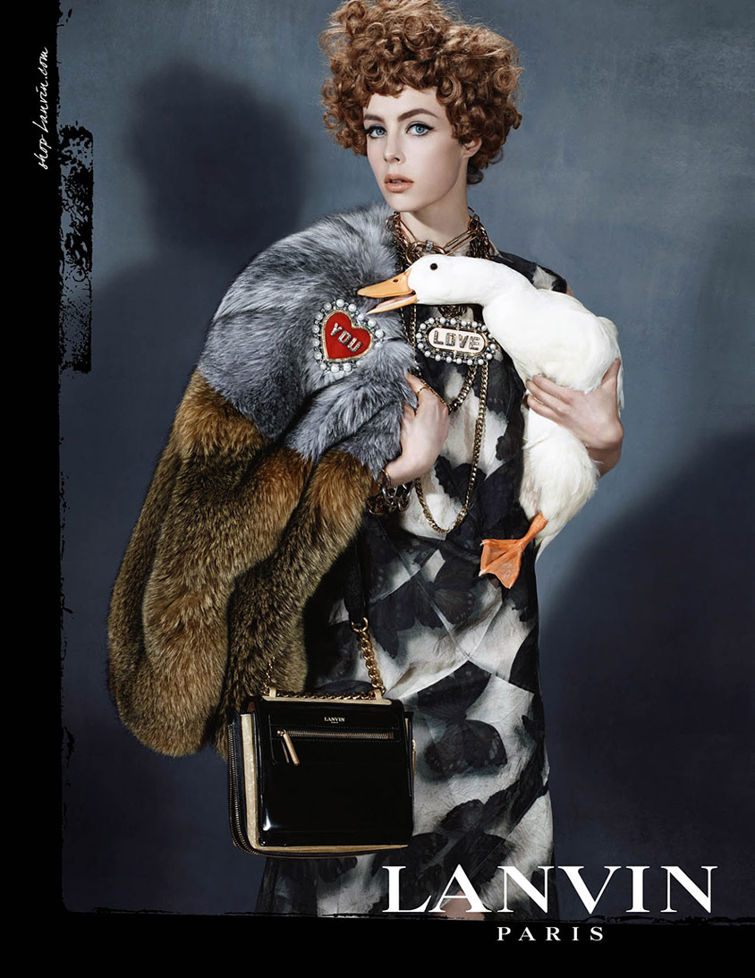 Edie Campbell for Lanvin fall-winter 2013-2014