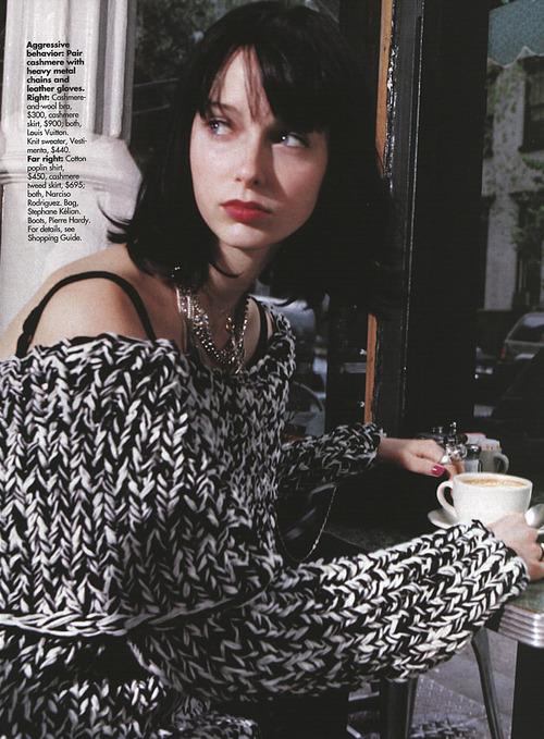Jenny Vatheuer by Manuela Pavesi, Elle US 2000